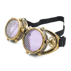 Очки Стимпанк цвет состаренная бронза с шестеренками и защитной сеткой (SPG-004)