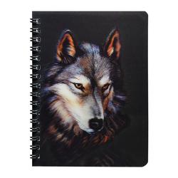 3D Блокнот Волк