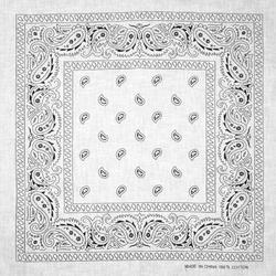 Бандана Огурцы черные на белом фоне