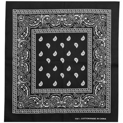 Бандана Огурцы белые на черном фоне