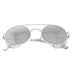 Очки солнцезащитные (SG-018) зеркальный серый, утолщенная оправа цвет серый матовый