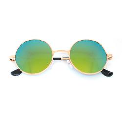 Очки солнцезащитные (SG-001) желто-зеленый, оправа цвет золотой