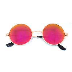 Очки солнцезащитные (SG-002) розовый, оправа цвет золотой