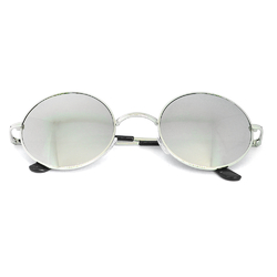 Очки солнцезащитные (SG-008) зеркальный серый, оправа цвет стальной
